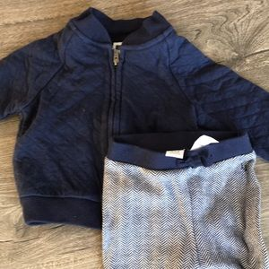 Janie and Jack adorable navy sweatsuit